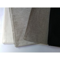 Pure Linen Tea Towel  - BLACK  50 x 70cm