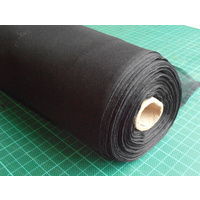 BLACK Chiffon (Tissue Silk) 3.5mm 114cm Wide  per Mtr