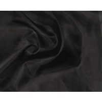 BLACK Organza 8mm 114cm Wide CUT per Mtr