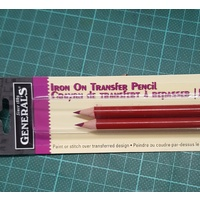 Iron on Transfer Pencil - Red Pkt 2
