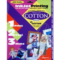 Inkjet Printing - COTTON Pkt 10 sheets 8.5 x 11""