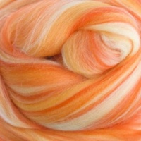 Papaya Wool/Silk Tops Blends