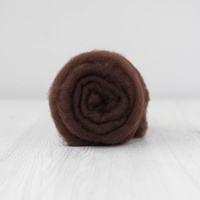 Chocolate Carded Short Fibre Wool