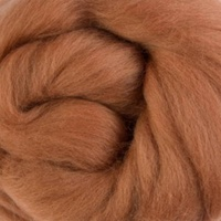Natural Dyed Wool Rovings - Ginger