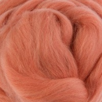 Natural Dyed Wool Rovings - Geranium (Madder)