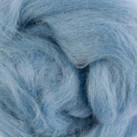 Natural Dyed Wool Roving - Cornflower (Natural Indigo)