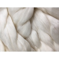 Natural White  -  50% 17 micron Wool/ 50% Mulberry Silk Tops