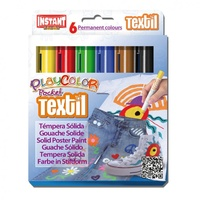Playcolour Textil Fabric Fabric Paint Sticks - Set 6 x 5gm Pocket