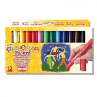 Playcolour Textil Fabric Paint Sticks - Set 12 x 5gm Pocket