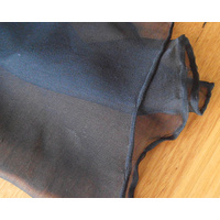 Chiffon (Tissue Silk) BLACK 3.5mm 38 x 180cm Pkt of 12