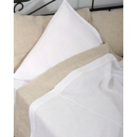 Natural White Linen Duvet Cover Queen Bed