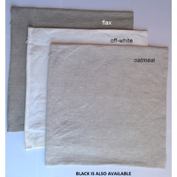 Pure Linen Cushion Covers - natural  white 50 x 50cm with zip