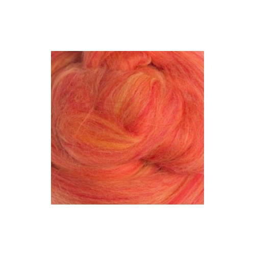 Sicilian Oranges (Arance Di Sicilia) Blended Wool Rovings (Size: 50gm)