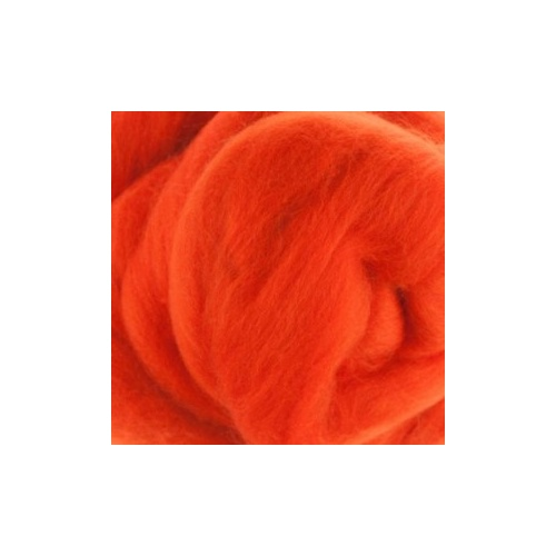 Orange(Arancia) Wool Tops (Size: 100gm)
