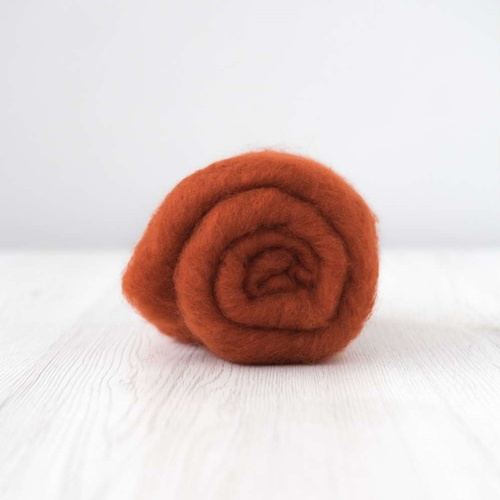 Rust (Ruggine) Carded Wool (Size: 50gm)