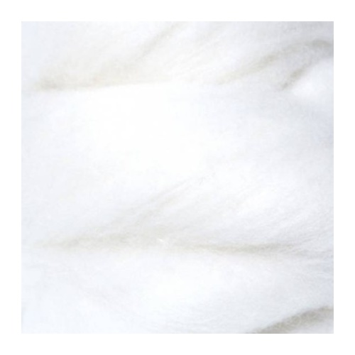 Natural White Pure Mongolian Cashmere (Size: 50gm)