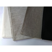 Pure Linen Tea Towel  - BLACK  50 x 70cm Pack 12