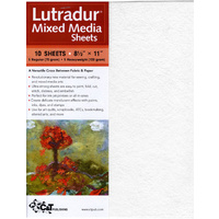 Lutradur Mixed Media Sheets - Pkt 10 :  20 x 27cm