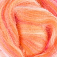 DHG Wool Tops  19 Micron Coloured Blends SUNSET