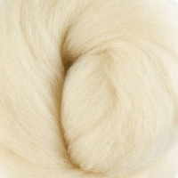 DHG Natural Dyed Wool Rovings - Starch (Chestnut)