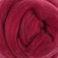 DHG Wool Tops 19 Micron RASPBERRIES
