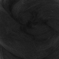 DHG Wool Tops 19 Micron BLACK
