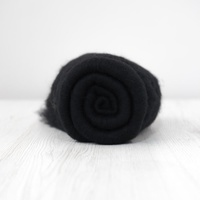 DHG Carded Wool Batts 19 micron BLACK