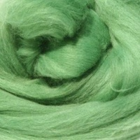 DHG Natural Dyed Wool Rovings - Emerald (Weld)