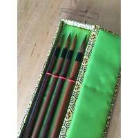 Bamboo Goat Hair Drop Brush Boxed Set of 4