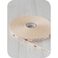 Printed Cotton Tape - Ivory mtr