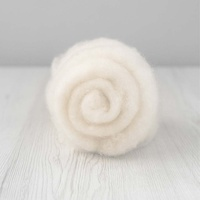 28 micron Carded Wool Batts White