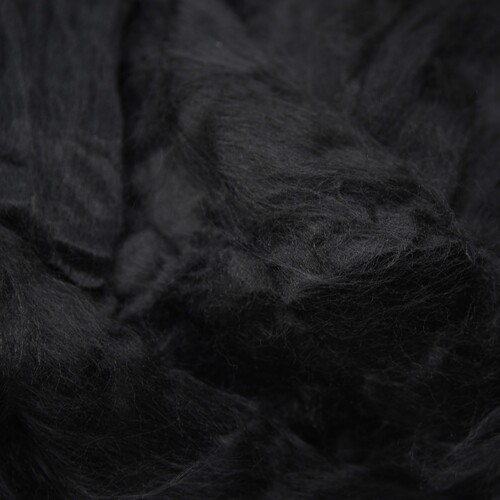 DHG Viscose Tops/ Rovings BLACK [Size: 50gm]