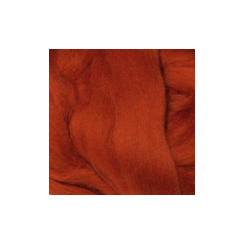 Rust (Ruggine) Wool Tops (Size: 50gm)