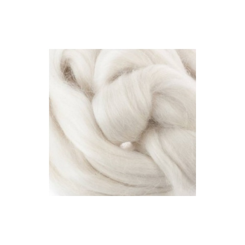 White Mohair Tops 50gm
