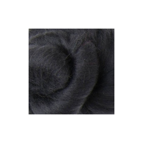 DHG 16.5 Micron Black Merino Tops/Rovings [Size: 50gm]